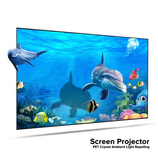 Screen Projector PET Crystal Ambient Light Repelling จอรับภาพโปรเจคเตอร์