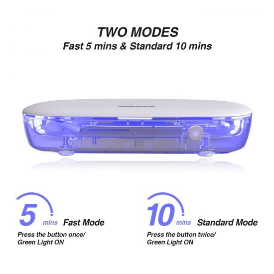 Jabees JB-BOX - Portable UV Light Sterilizer Box กล่อง UV ทำความสะอาดพร้อมชาร์จไร้สาย