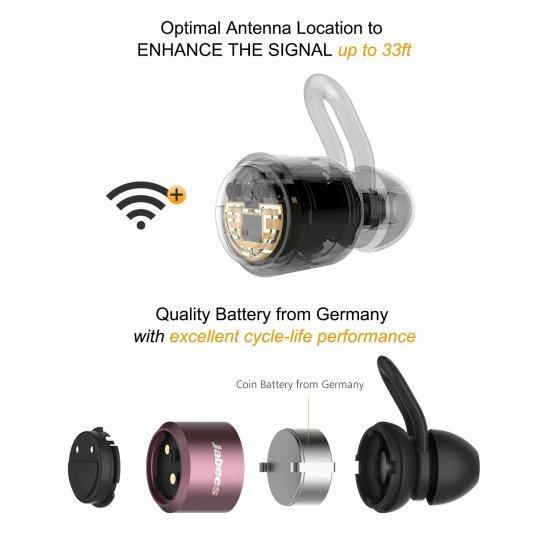Jabees BTwins Bluetooth Stereo หูฟัง True Wireless
